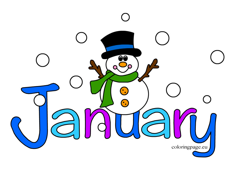 803x581 Month Of January Clipart