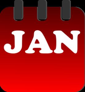 276x298 January Calendar Clip Art