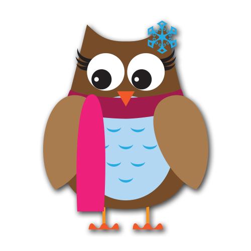 500x500 Owl Clipart January