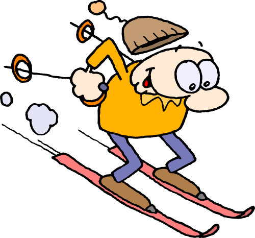 500x466 Skiing January Clipart, Explore Pictures