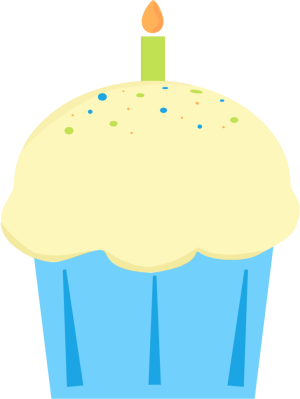 300x399 Cupcake Clipart January