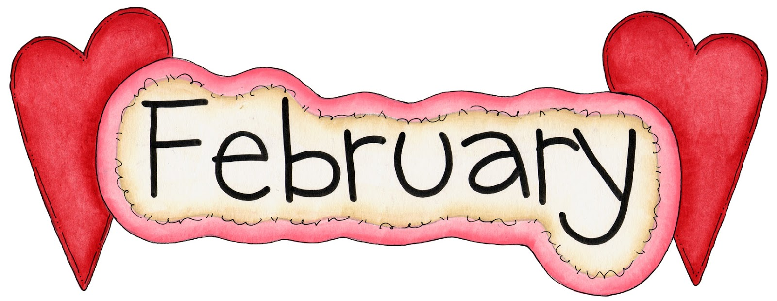 1600x620 February Birthday Clipart