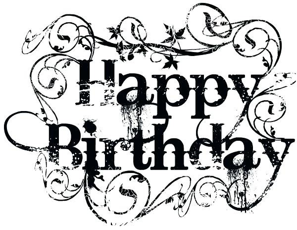 600x464 Happy Birthday Free Clipart Download Happy Birthday Black