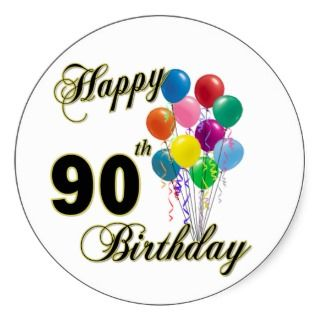 320x320 90th Birthday Clip Art