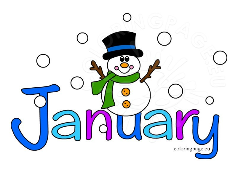 803x581 Of January Clipart