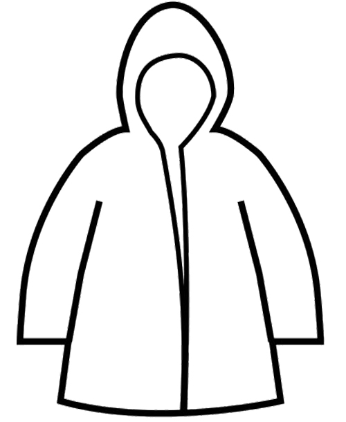 500x610 Raincoat Winter Coloring Page Coloring Pages Raincoat