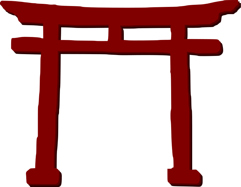 800x622 Building Japanese Clipart
