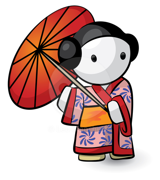 524x590 Japanese People Clipart
