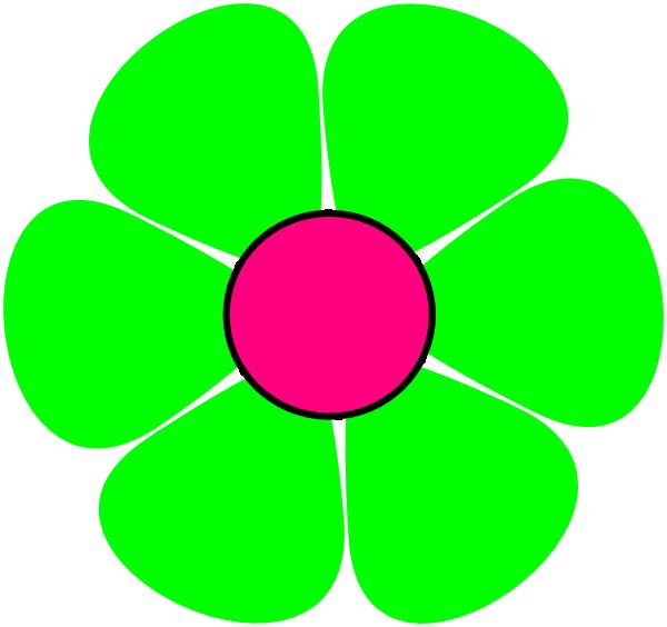 600x564 Green Flower Clip Art