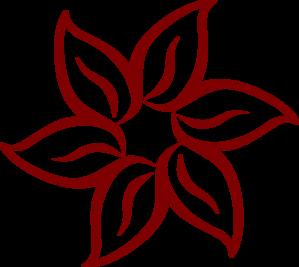 299x267 Red Flower Clip Art