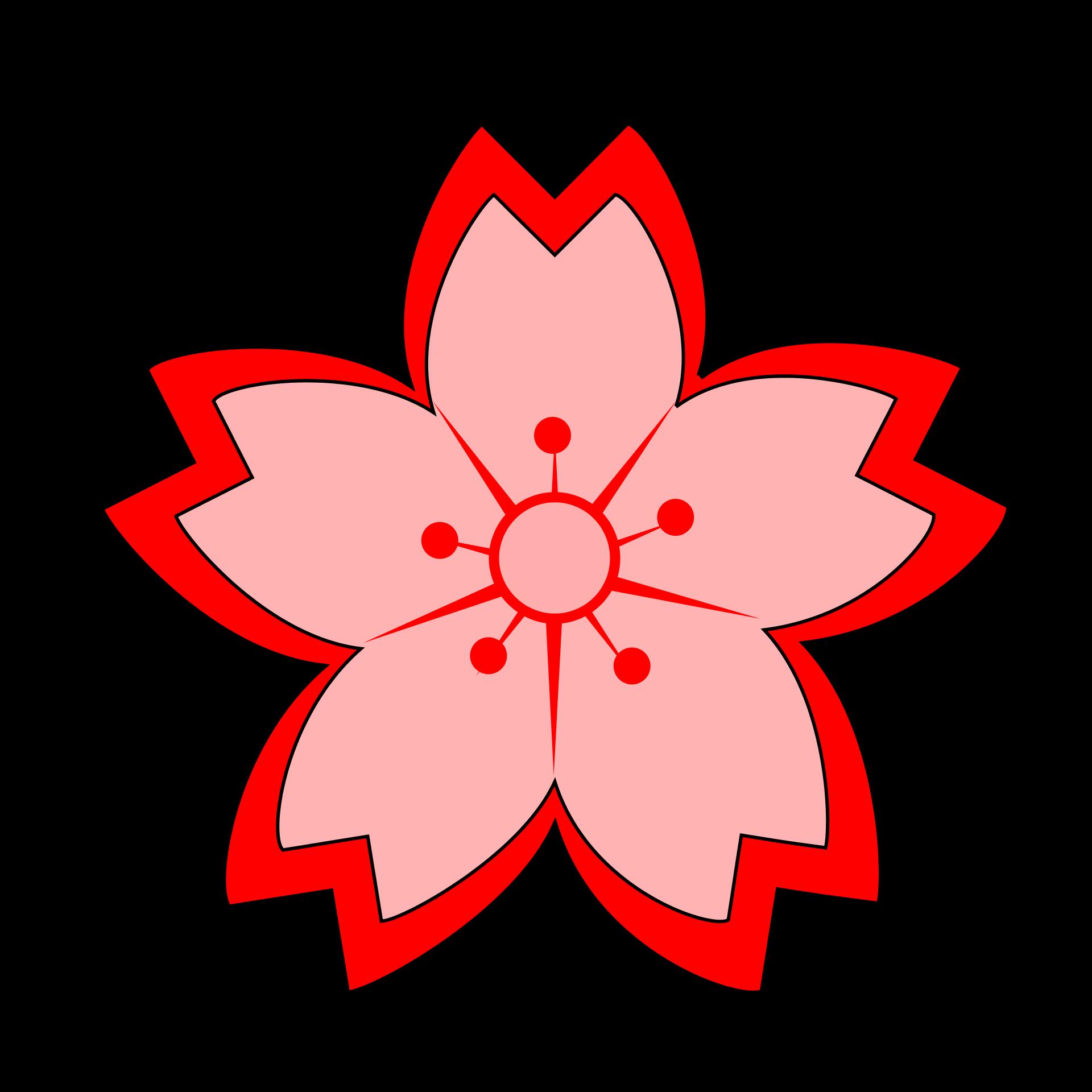 1920x1920 Red Flower Japanese Flower Clip Art Clipartfest