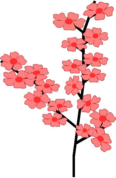390x597 Japanese Flower Clipart