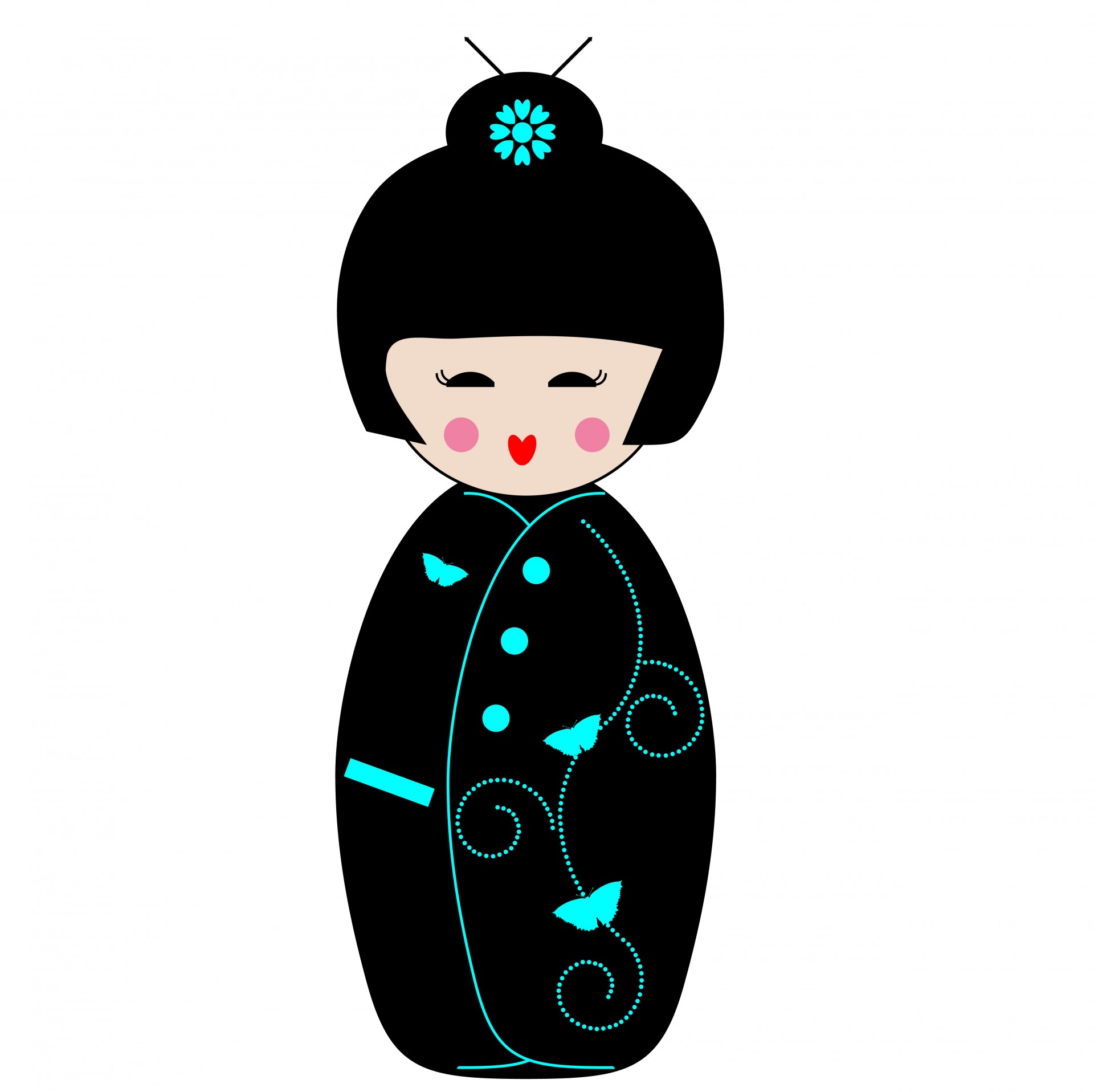 1920x1916 Geisha Girl Clipart Free Stock Photo