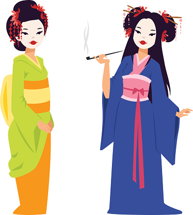 393x438 Geisha Clipart Japanese Person