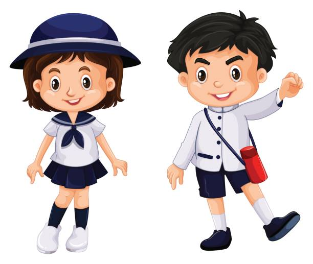 612x517 Japanese Student With High School Uniform Royalty Free Cliparts