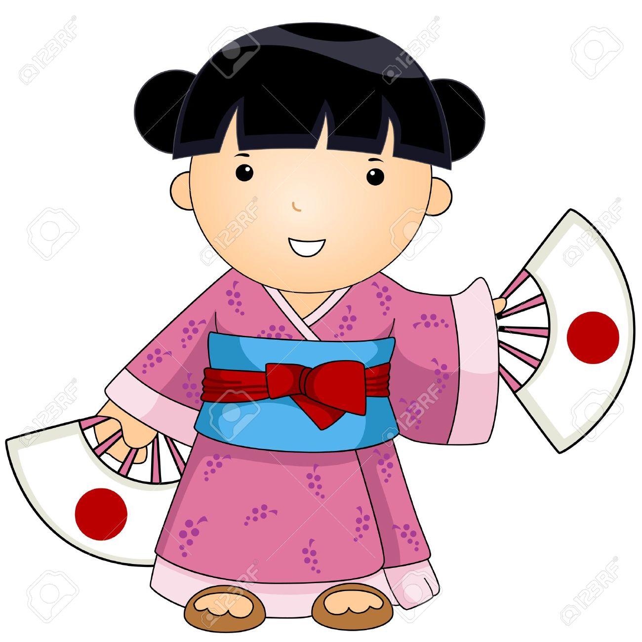 1300x1300 Kimono Clipart Japanese Person