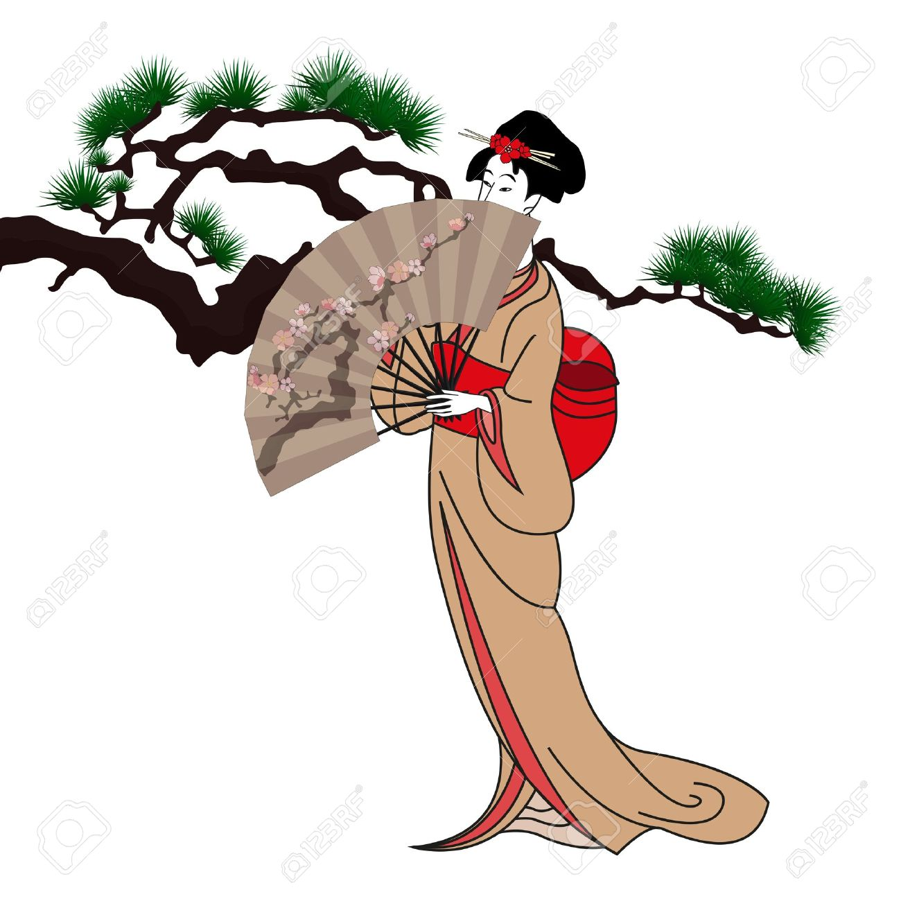 1300x1300 940 Japanese Umbrella Stock Vector Illustration And Royalty Free