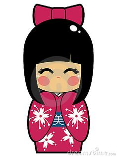 236x315 Asian Kokeshi Doll 1