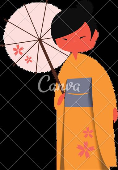 382x550 Drawing Japanese Woman Traditional Dress