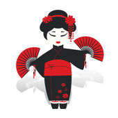 170x170 Geisha Japan Classical Japanese Woman Waterclolr Style Of Drawing
