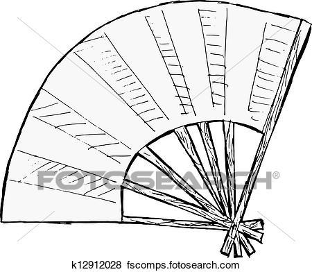 450x392 Clip Art Of Japanese Fan K12912028