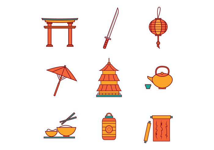 700x490 Free Japanese Icons Vector