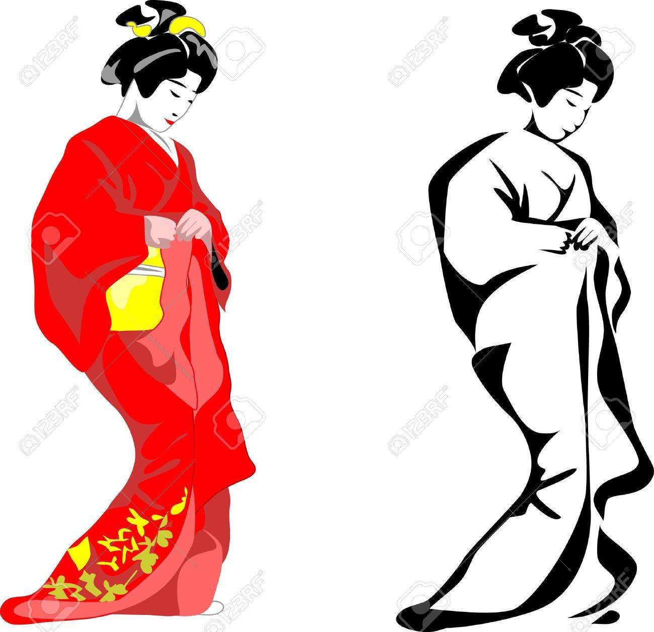 1300x1256 Japan Clipart Japanese Woman