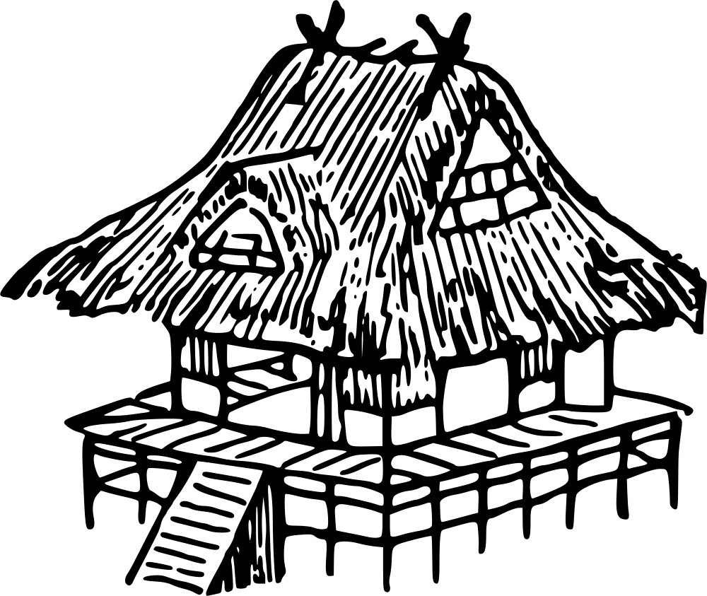 1000x843 Japanese Clipart Hut