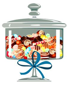236x291 Candyy Jar Collage Sheets Candy Ice Cream Treats