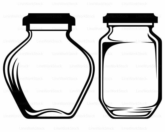 570x456 Glass Jar Svg,jar Clipart,empty Svg,glass Jar Silhouette,glass Jar