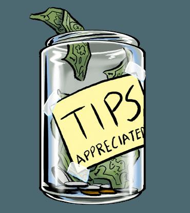 370x414 Tip Jar Clipart