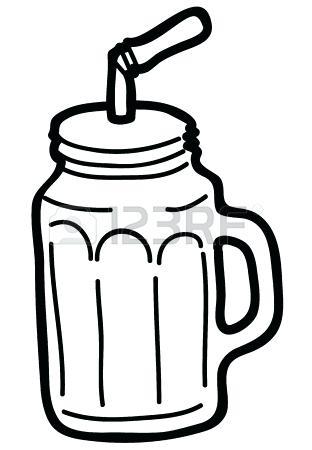 312x450 Free Mason Jar Clipart Illustration Of Hand Drawn Jar Isolated