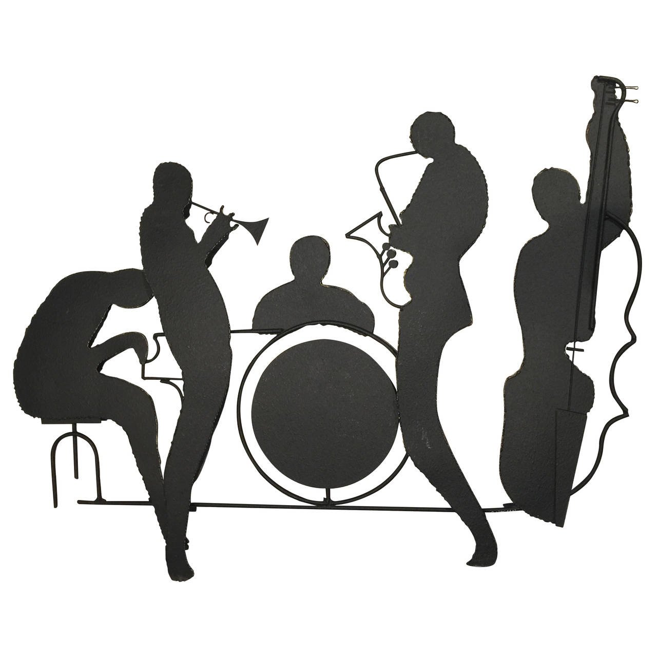 1280x1280 Curtis Jere Jazz Band Silhouette Sculpture
