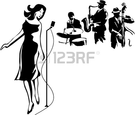 450x382 Jazz Band On A White Background Royalty Free Cliparts, Vectors