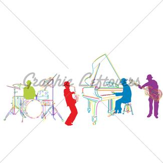 325x325 Jazz Band Gl Stock Images