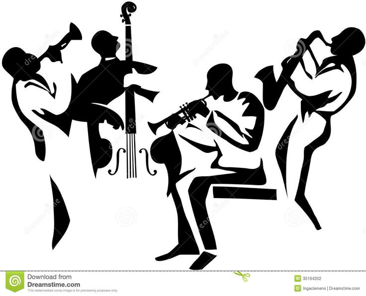 736x596 Jazz Musician Clipart