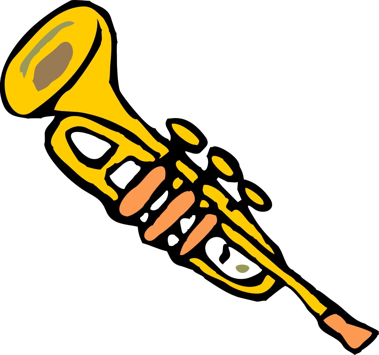 1331x1247 Free Trumpet Clipart Image