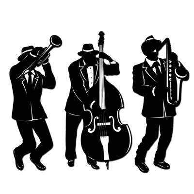 400x400 Jazz Silhouettes Clip Art Jazz Musician Silhouette Cutouts