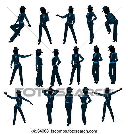 450x470 Stock Illustration Of African American Female Jazz Dancer