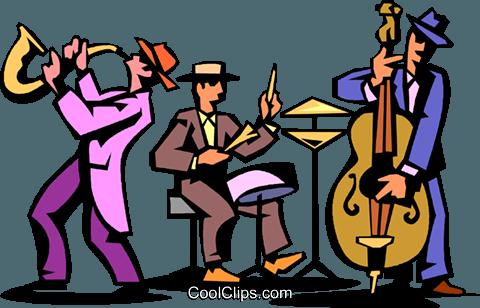 480x308 Jazz Trio Of Musicians Royalty Free Vector Clip Art Illustration