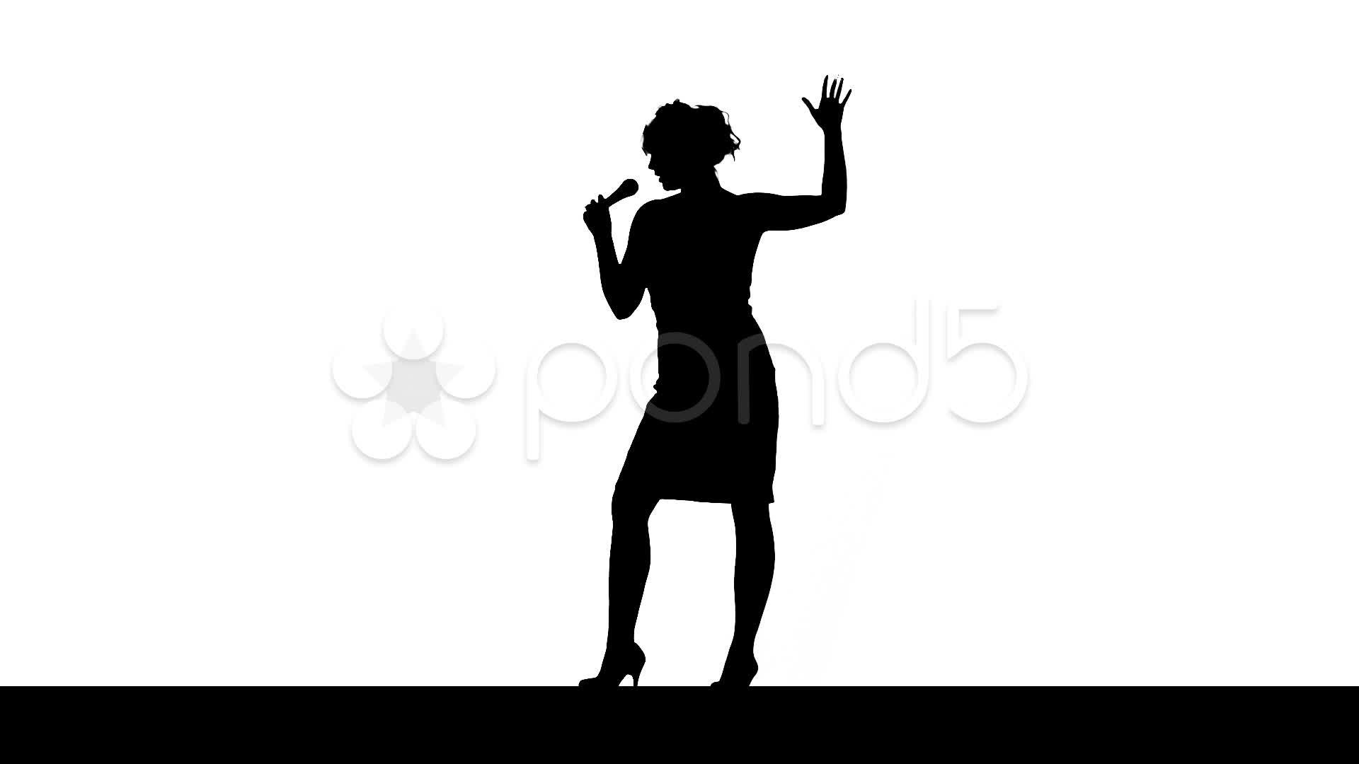 1920x1080 Clip Art Of A Jazz Singer Clipart
