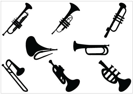 505x357 Jazz Trumpet Clipart 3