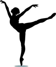 236x279 Clip Art Illustration Of A Silhouette Of A Ballet Dancer Lunging