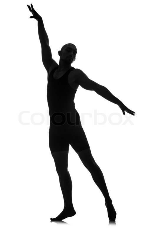 530x800 Silhouette Of Male Dancer Isolated On White Stock Photo Colourbox