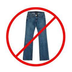 240x240 Clip Art No Jeans Sign Cliparts