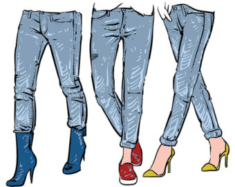 340x270 Jeans Clipart