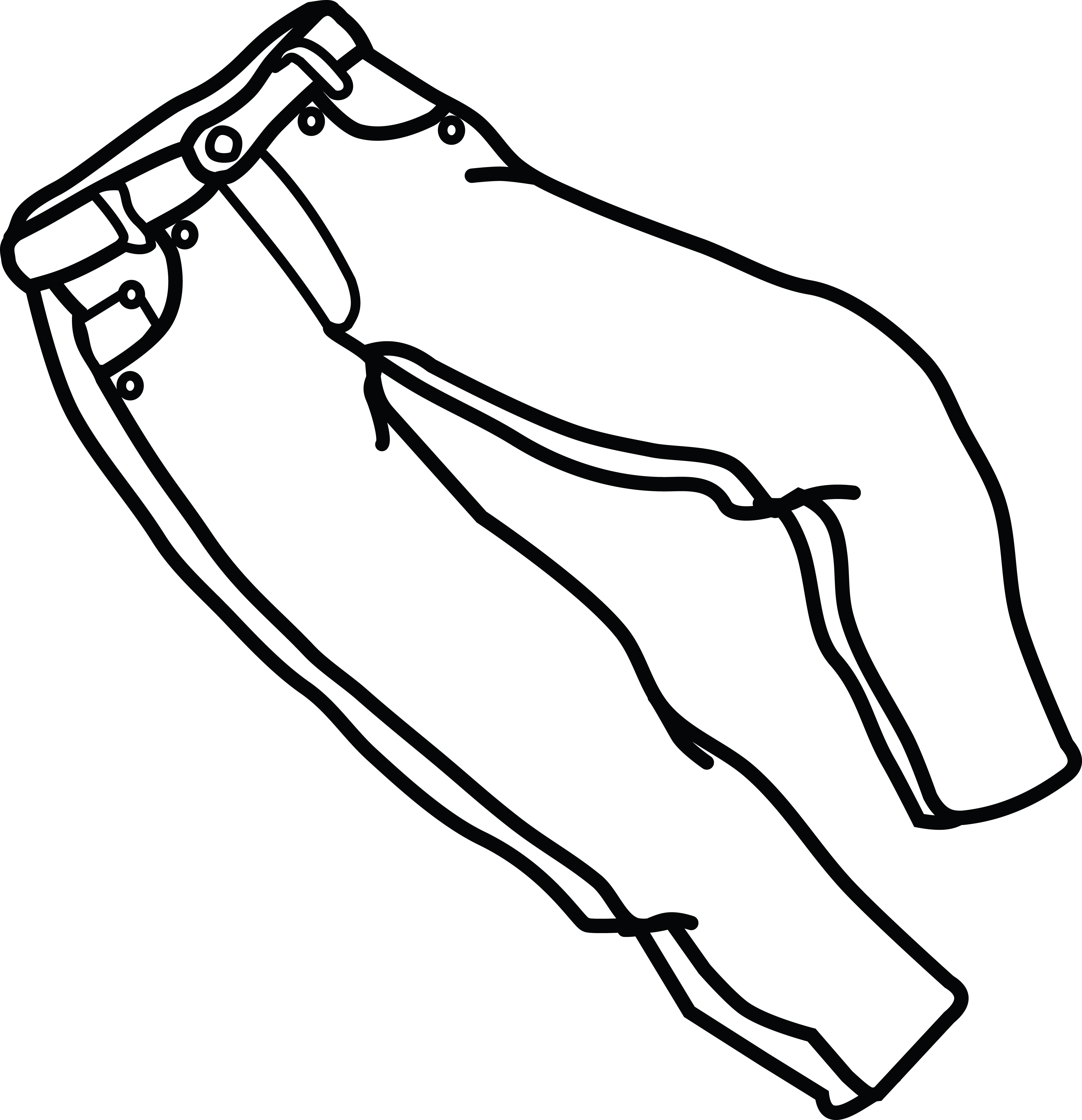 4000x4141 Jeans Clipart Coloring