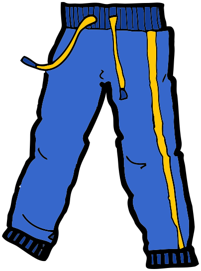 404x543 Trousers Clipart