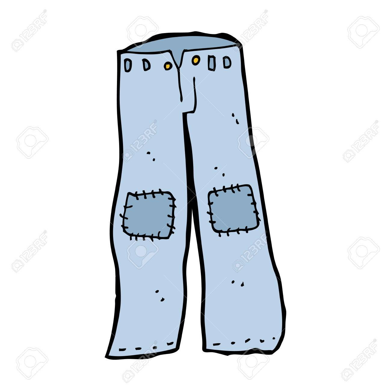 1300x1300 Cartoon Patched Old Jeans Royalty Free Cliparts, Vectors,
