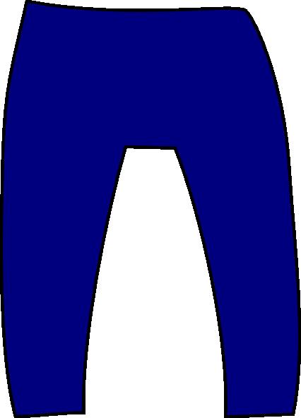 426x592 Blue Pants Clip Art